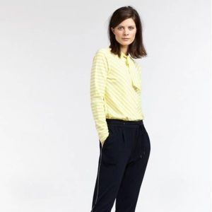 Sandwich Striped top with tie closure Yellow M